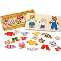 Melissa & DougPuzzle Wooden Bear Family Dress-Up