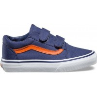 VansSneakers Old Skool Canvas Crown Blue/Mandarin Orange32 EU