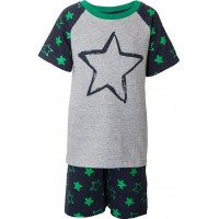 Max CollectionPyjamas Grey melange/Green86 cm