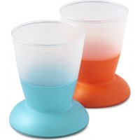 BabyBjörnGlas 2-Pack Orange/Turkos