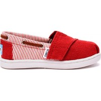 TomsRed Stripe Slip On Baby Espadrille23.5 (UK 6)