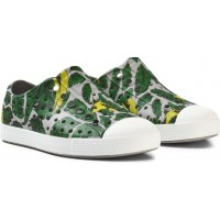 NativeGrey Leaf Print Jefferson Rubber Trainers22 (UK 5)