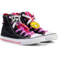 ConverseChuck Taylor All Star Emoji Energy Loophole Hi Tops Svart27 (UK 10)