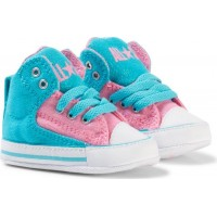 ConverseChuck Taylor All Star First Star High Street Hi Tops Blå/Rosa17 (UK 1)
