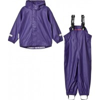 Ticket To HeavenRain Set 2pcs Authentic Rubber With Detachable Hood Parachute Purple116 cm