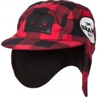 The BRANDFlanell B-Moji Winter Cap Red Check