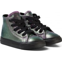 ConverseViolet Metallic Chuck Taylor All Star Infant Hi Tops20 (UK 4)