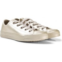 ConverseGold Junior Chuck Taylor All Star Metallic Leather - OX35 (UK 2.5)