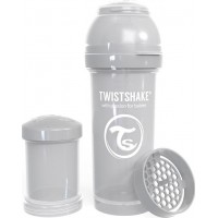 TwistshakeNappflaska Anti-Kolik 260ml Pastel Grey 2+m