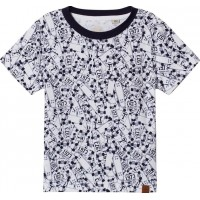 TimberlandWhite All Over Print Skateboard T-shirt2 years