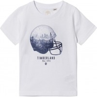 TimberlandVit American Football Helmet Print T-shirt3 years