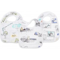 Aden + Anais3-Pack White Mutlti Graphic Winnie Snap Haklappar