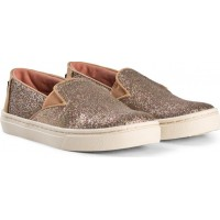 TomsGold Iridescent Glimmer Luca Youth TOMS Slip-Ons30 (UK 11)