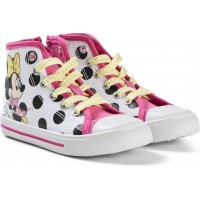 Disney Minnie MouseHigh Sneakers Vit/Prickig29 EU