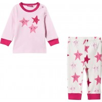 Max CollectionPyjamas Set Rosa/Vit56 cm