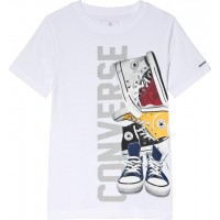 ConversePile ?Em Up Sneaker T-Shirt Vit8-10 years