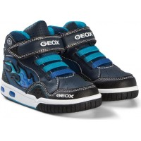 GeoxJunior Android Light Up Gymnastiksko Navy Flame29 (UK 11)