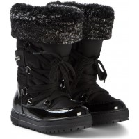 NaturinoBlack Patent and Nylon Avila and Faux Fur Tall Snow Boots25 (UK 8)