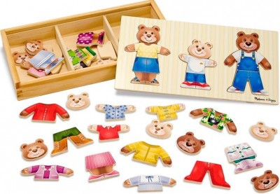 DougPuzzle Wooden & Melissa Family Bear  Dress-Up